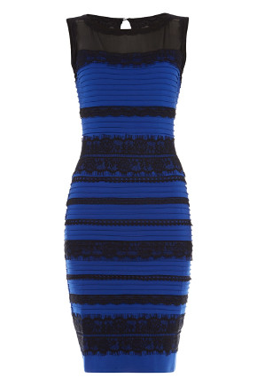 Blue and black or white and gold dress original picture of black